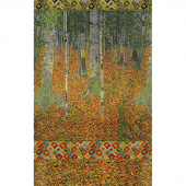 Gustav Klimt - Birch Autumn Metallic Panel
