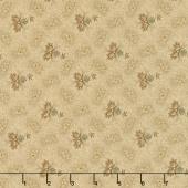 Grace's Garden 1820-1860 - Mimosa Blooms Flax Yardage