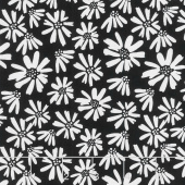 Juniper - Daisy Black Yardage
