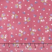 Anne of Green Gables - Anne Blossoms Raspberry Yardage
