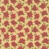 Winterberry - Winter Poinsettia Honey Yardage