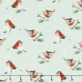 Winter Woods - Birds in Gray Yardage