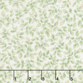 Eaton Place - Leaves Ivory Yardage