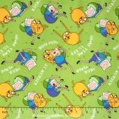 Adventure Time - Finn and J Bro Hug Tossed Yardage