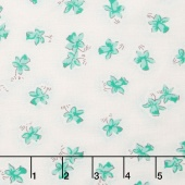 Lily - Floral Mint Yardage