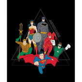 Justice League Activated - Justice League Pyramid in Black Panel