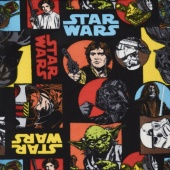 Fleece Licensed - Star Wars Cartoon Characters Multi Yardage