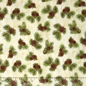 Majestic Outdoors - Majestic Pinecones White Yardage