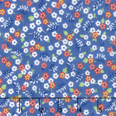Feed Sacks: True Blue - Posies Cornflower Yardage