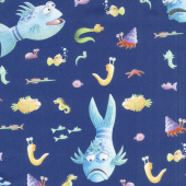 The Pout Pout Fish - Fish Blue Yardage