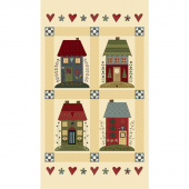 Home Sewn Cream Panel