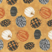 Raven's Claw - Rolling Pumpkins Orange Multi Yardage