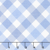 Feed Sacks: True Blue - On Point Plaid 30'S Blue Yardage
