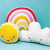 Cut Sew Create - Sunshine Rainbow Cloud Pillows Kit