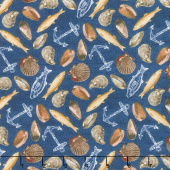 Fresh Catch - Seafood Blue Yardage