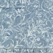 Baker's Dozen Batiks - Scroll Egyptian Blue Yardage