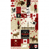 Canadian Classics - Canadian Classics Red Digitally Printed Panel