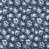 Abigail Blue - Packed Floral Navy Yardage