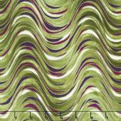 Pansy Noir - Breezy Wave Olive Yardage