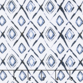 Indigo Rose - Crystal White Yardage