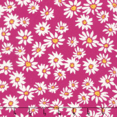 Painted Garden - Daisies For Days Berry Yardage