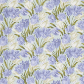 Totally Tulips - Teal Periwinkle Yardage