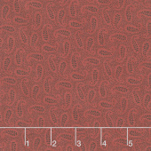 Gratitude and Grace - Paisley Vines Red Yardage