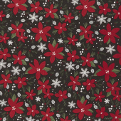 Winterberry - Main Black Yardage