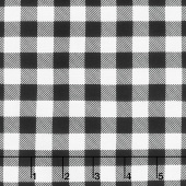 Timber Gnomies - Plaid Black and White Yardage