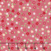 Vintage Adventure - Tiny Floral Pink Yardage