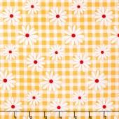 Gingham Girls - Gingham Daisy Yellow Yardage