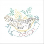 Birds of Liberty - Oregon Digitally Printed Panel