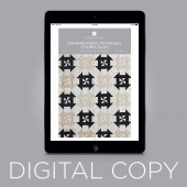 Digital Download - Disappearing Pinwheel Churn Dash Quilt Pattern by Missouri Star