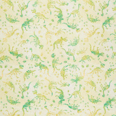 Dinosaur Friends - Fossils Green Yardage