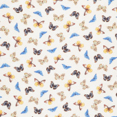 Limoncello - Papillons Beige Yardage