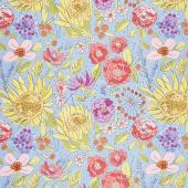 Color Fusion - Sunflower Blue Yardage
