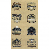 Brew - Coffee Burlap Tan Panel