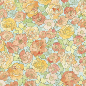 Alphonse Mucha - Flowers Garden Digitally Printed Yardage