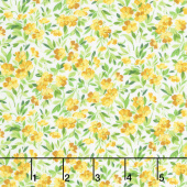 Summer Breeze V - Buttercup Ivory Yardage