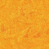 Tonga Batiks - Colorwheel Rainbow Dotty Spiral Orange Yardage
