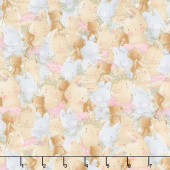 Friendship Blossoms - Packed Bunnies and Bears Multi Yardage