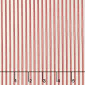 Star & Stripe Gatherings - Triple Stripe Ivory Red Yardage