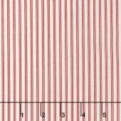 Star & Stripe Gatherings - Triple Stripe Ivory Red Yardage