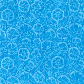 Tonga Batiks - Jump Turquoise Spring Floral Yardage