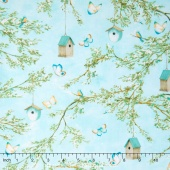 Lakeside Retreat - Branches Light Blue Yardage