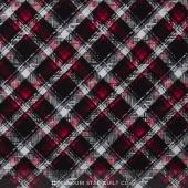 Scotty Love - Pet Plaid Black Flannel Yardage