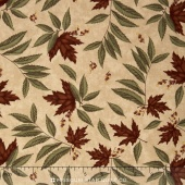 Country Road - Large Leaf Sandy Tan Yardage