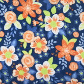 Winterfleece - Ventura Floral Navy Yardage