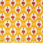 Vintage Kitchen - Cat Yellow Yardage