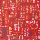 We Share One World - Words Red Yardage